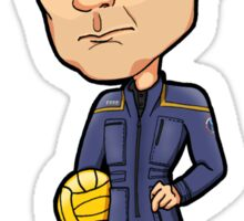 Star Trek Enterprise - Captain Jonathan Archer and Porthos Sticker