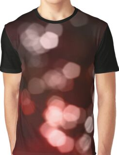 Red Light Bokeh Effect Graphic T-Shirt