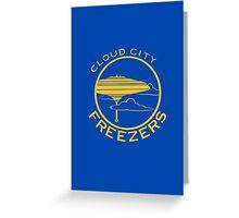 Cloud City Freezers - Star Wars Sports Teams Greeting Card