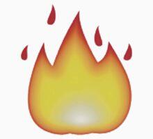 Fire Emoji Baby Tee
