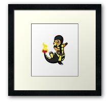 ScorpioZard in flames [Cartoon] Framed Print