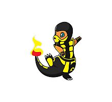 ScorpioZard in flames [Cartoon] Photographic Print