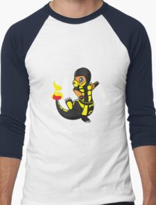 ScorpioZard in flames [Cartoon] Men's Baseball ¾ T-Shirt
