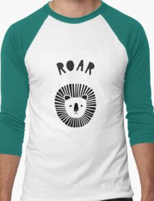 Lion Roar in Monochrome Men's Baseball ¾ T-Shirt
