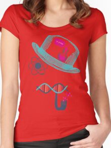 Science Moustache Women's Fitted Scoop T-Shirt