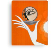 Playful Art Deco cute makeup fashion art Canvas Print