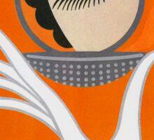 Playful Art Deco cute makeup fashion art Sticker