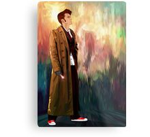 Time Traveller with abstract background art painting Metal Print