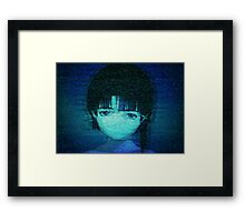 Lain on Internet Framed Print