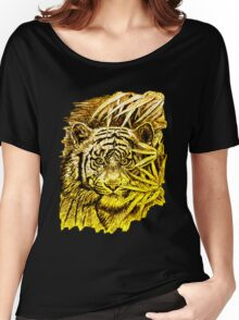 King of the Jungle in orange-yellow Women's Relaxed Fit T-Shirt