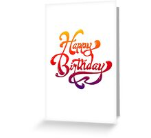 Colorful Birthday Card Greeting Card