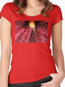 Red Dutchman's Pipe Flower - Macro Women's Fitted Scoop T-Shirt