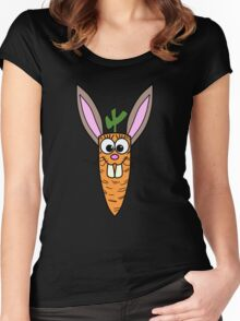 Cute Bunny Rabbit Carrot Women's Fitted Scoop T-Shirt