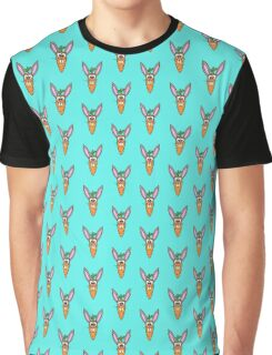 Cute Bunny Rabbit Carrot Graphic T-Shirt