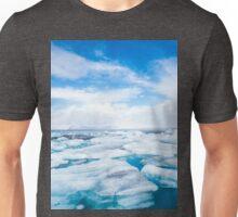 Icelandic Glacier Lagoon Design Unisex T-Shirt