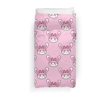 Bunny Face Pattern Duvet Cover
