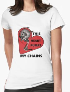 Pump My Chains Womens Fitted T-Shirt
