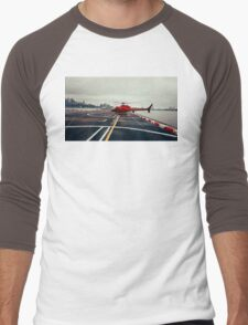 Red Helicopter Men's Baseball ¾ T-Shirt