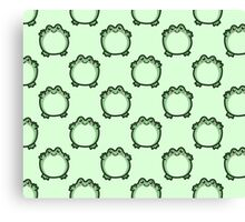 Cute Frog Pattern Canvas Print