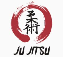 JuJitsu Kanji and red brush circle One Piece - Long Sleeve