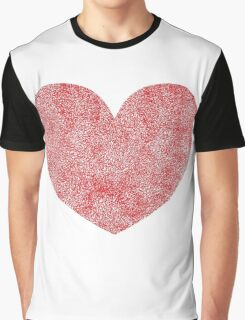 Red Heart Love Graphic T-Shirt