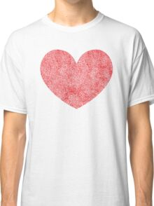 Red Heart Love Classic T-Shirt