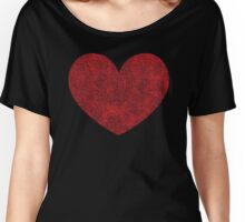 Red Heart Love Women's Relaxed Fit T-Shirt