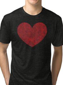 Red Heart Love Tri-blend T-Shirt