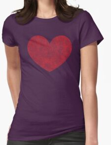 Red Heart Love Womens Fitted T-Shirt