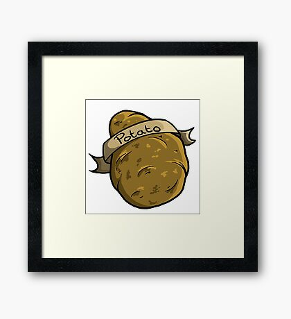 Potato Framed Print