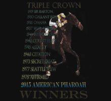 Triple Crown Winners 2015 American Pharoah Kids Tee