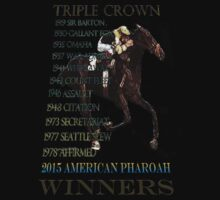 Triple Crown Winners 2015 American Pharoah by Ginny Luttrell