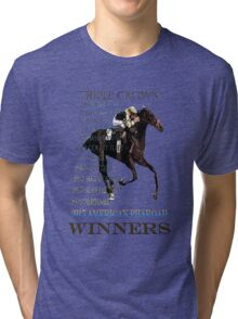 Triple Crown Winners 2015 American Pharoah Tri-blend T-Shirt