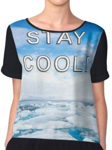 STAY COOL! ICE DESIGN Chiffon Top