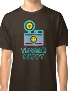 Trigger Happy Photographer Shooting People Happily Classic T-Shirt