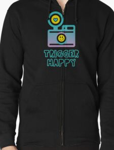 Trigger Happy Photographer Shooting People Happily Zipped Hoodie