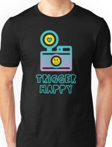 Trigger Happy Photographer Shooting People Happily Unisex T-Shirt