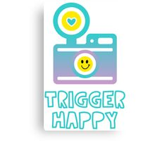 Trigger Happy Photographer Shooting People Happily Canvas Print