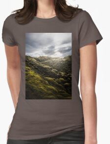 Moss Covered Lava Design Womens Fitted T-Shirt