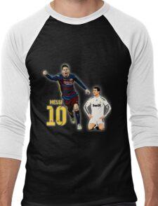 Messi vs Ronaldo Men's Baseball ¾ T-Shirt