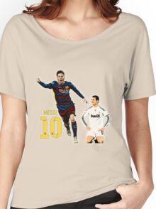 Messi vs Ronaldo Women's Relaxed Fit T-Shirt