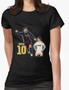 Messi vs Ronaldo Womens Fitted T-Shirt