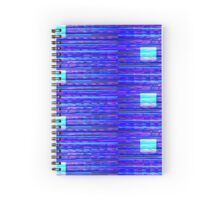 Pixelated Screen Abstract Spiral Notebook