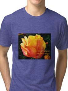 ADOPT THE PACE OF NATURE  Tri-blend T-Shirt