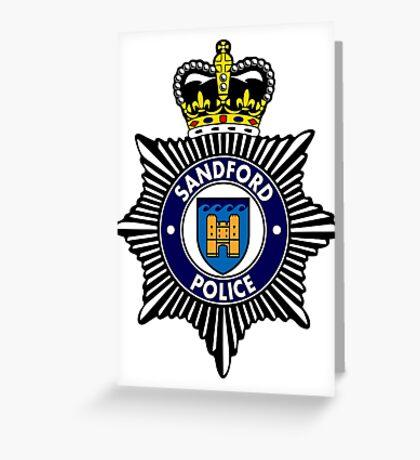 Sandford Police Greeting Card