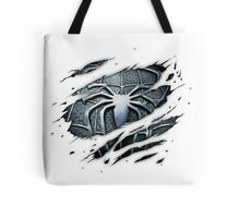 Dark Spiderman Chest Ripped Tote Bag