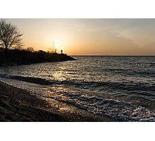 Greeting the Sun on Lake Ontario Photographic Print