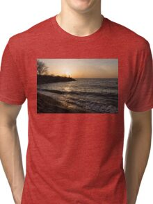 Greeting the Sun on Lake Ontario Tri-blend T-Shirt