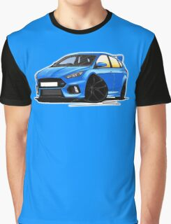 Ford Focus (Mk3) RS Blue Graphic T-Shirt
