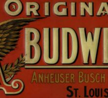BUDWEISER VINTAGE 100 YEARS OLD ORIGINAL Sticker